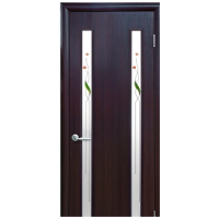 Двери Новый Стиль Квадра ВЕРА со стеклом сатин и рисунком