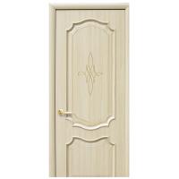 Двери Новый Стиль Интера РОКА глухое с гравировкой Gold
