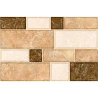 Плитка керамическая Интеркерама GRANI стена коричневая светлая (под мозаику) 2335 74 031